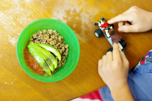 paleo homeschool taco bowl