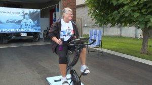 Virtual Terry Fox Run has Kingston women taking to her stationary bike