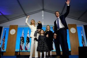 Two of Gavin Newsom's children test positive for COVID-19