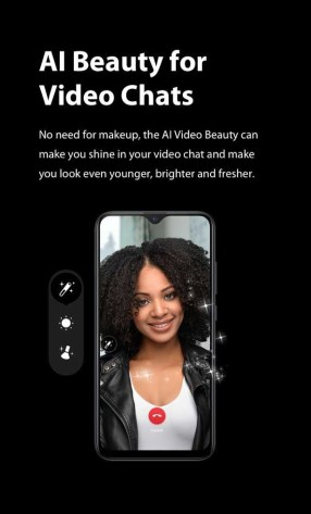 XOS 5.0 Cheetah AI Beauty for video chats