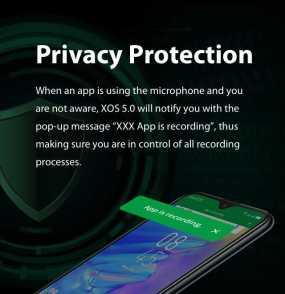 XOS 5.0 Cheetah Privacy protection