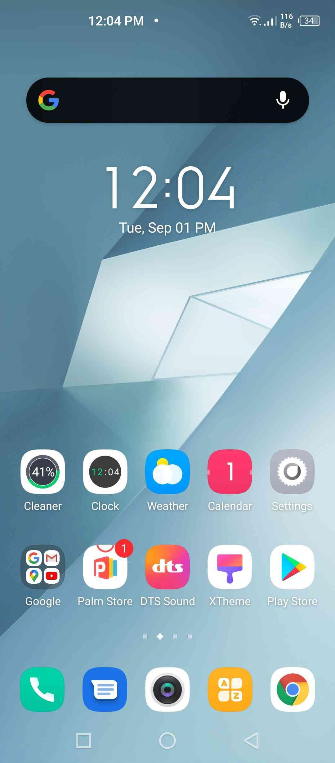 XOS 7 Homepage