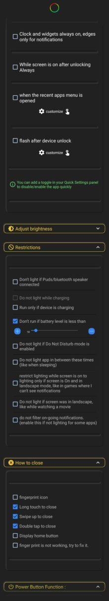 Samsung Galaxy Note 10 and 20 hole punch notification LED