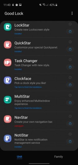 Samsung Galaxy A71 notification LED