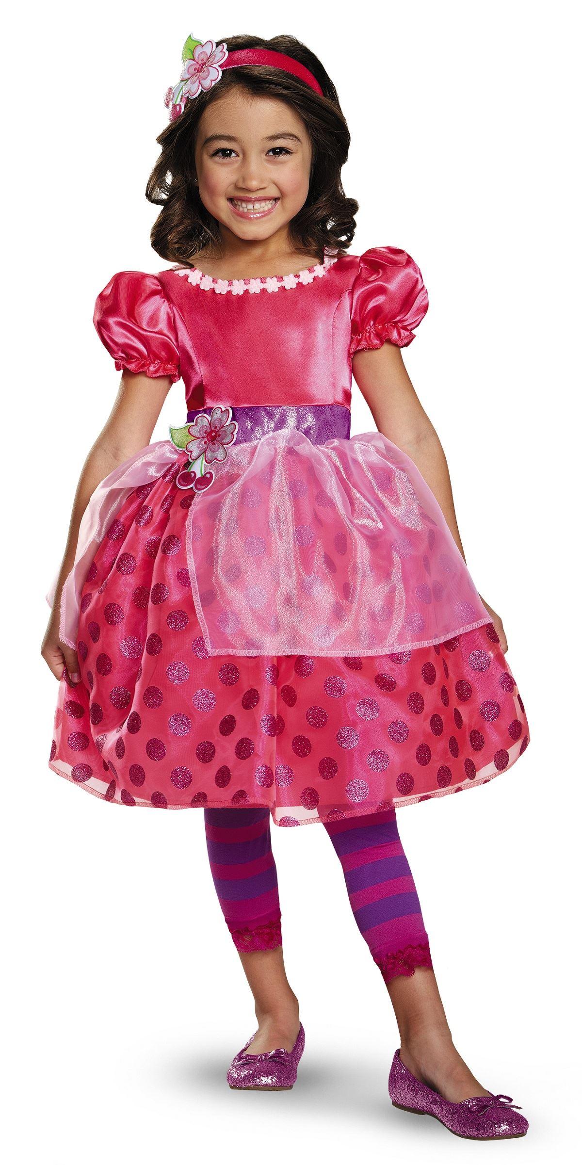 Kids Cherry Jam Strawberry Shortcake Girl Costums E
