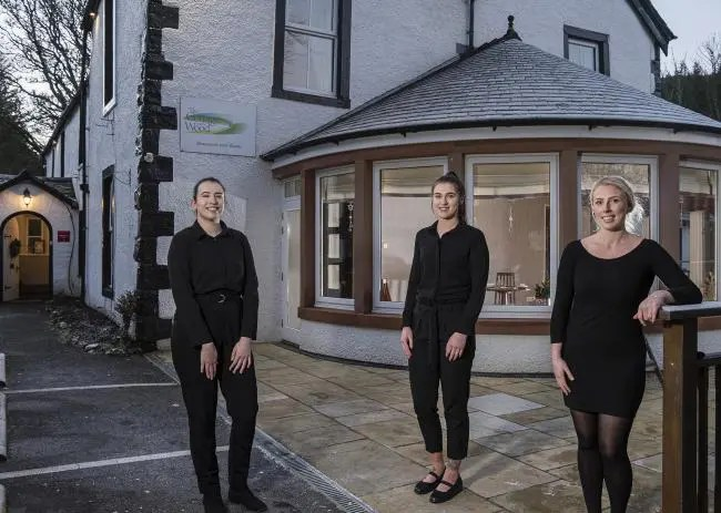 Sophie Court-Oak, Daisy Wright and Heli Seymour - Apprentices at The Cottage in the Wood