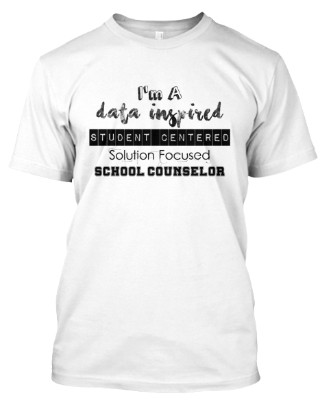 Data inspired school counseling shirt