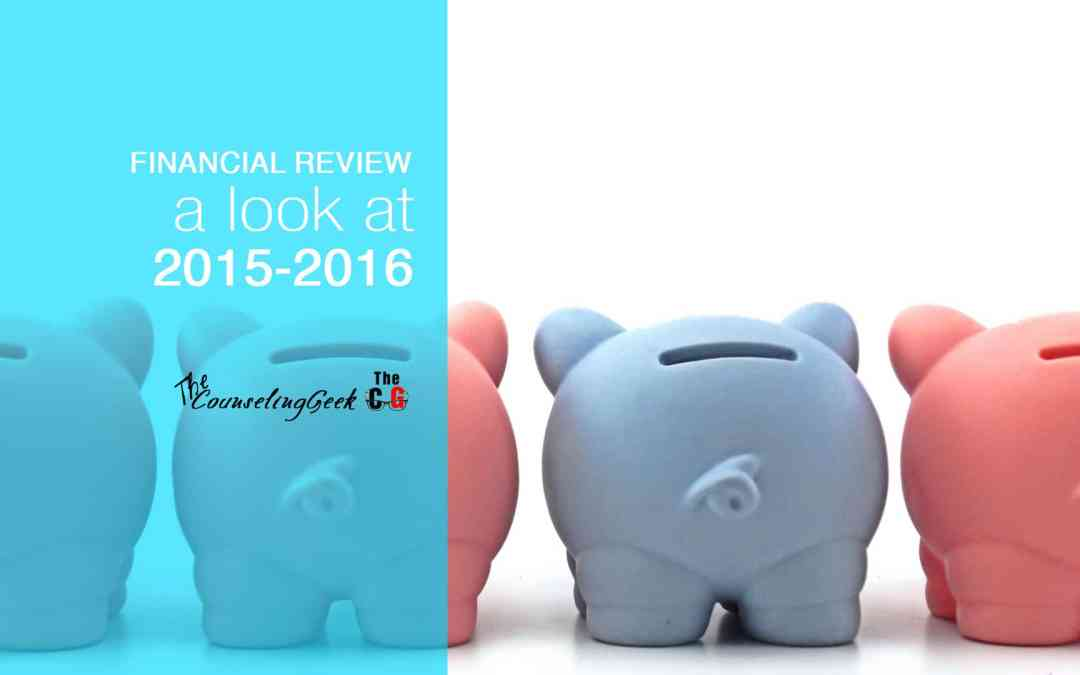2015-2016 Counseling Geek Financial Year In Review