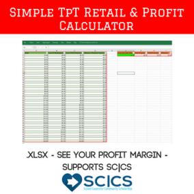 Simple TpT Retail and Price Calculator (For TpT Sellers!) https://www.teacherspayteachers.com/Product/Simple-Teachers-Pay-Teachers-TpT-Retail-Price-and-Profit-Calculator-3318244