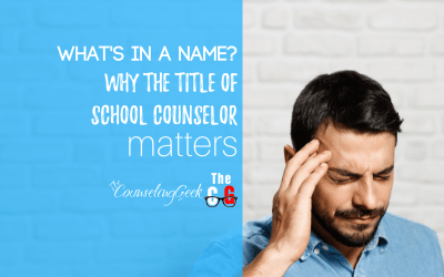 What's in a name? Why the title of school counselor matters.