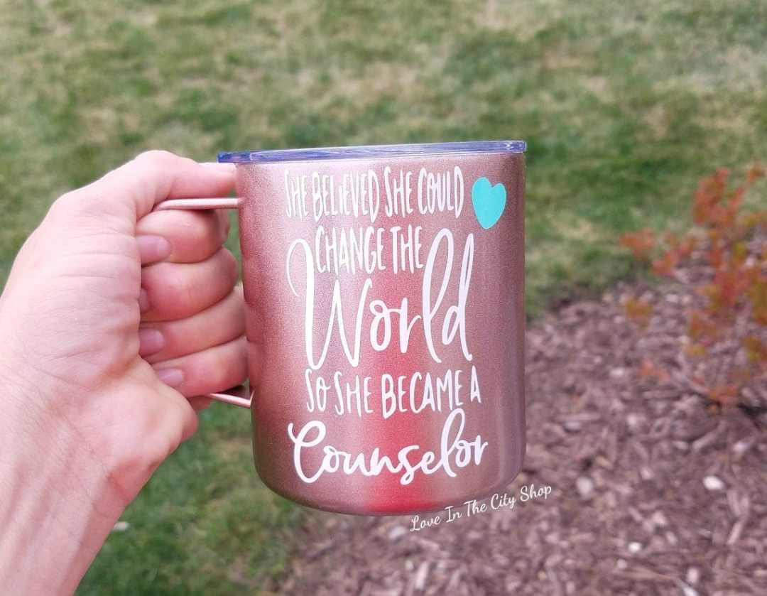 Counselor mug, social worker mug, custom counselor, social work mug, counselor cup, school counselor gift, school counselor mug