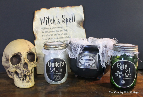 Macbeth Halloween Decor The Country Chic Cottage