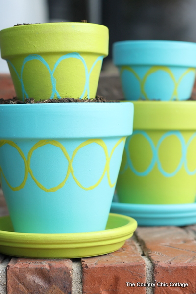 DIY Tiered Planter Pots With Patio Paint With Decoartinc