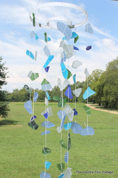 Sea Glass Wind Chimes The Country Chic Cottage