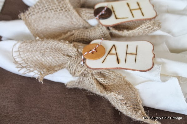 Rustic Burlap Napkin Rings For Thanksgiving The Country