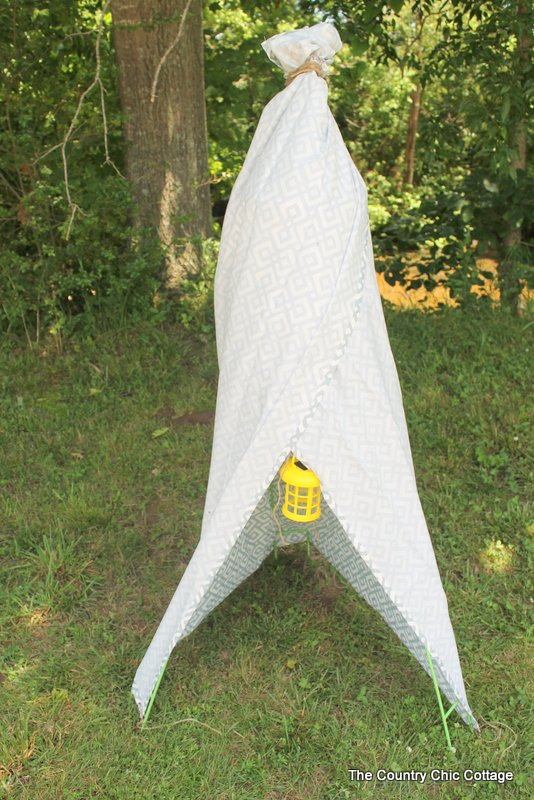 Backyard Teepee from #dollargeneral - The Country Chic Cottage