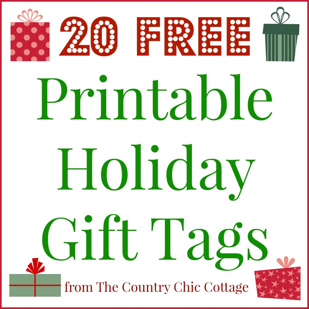 20 Printable Holiday T Tags For Free