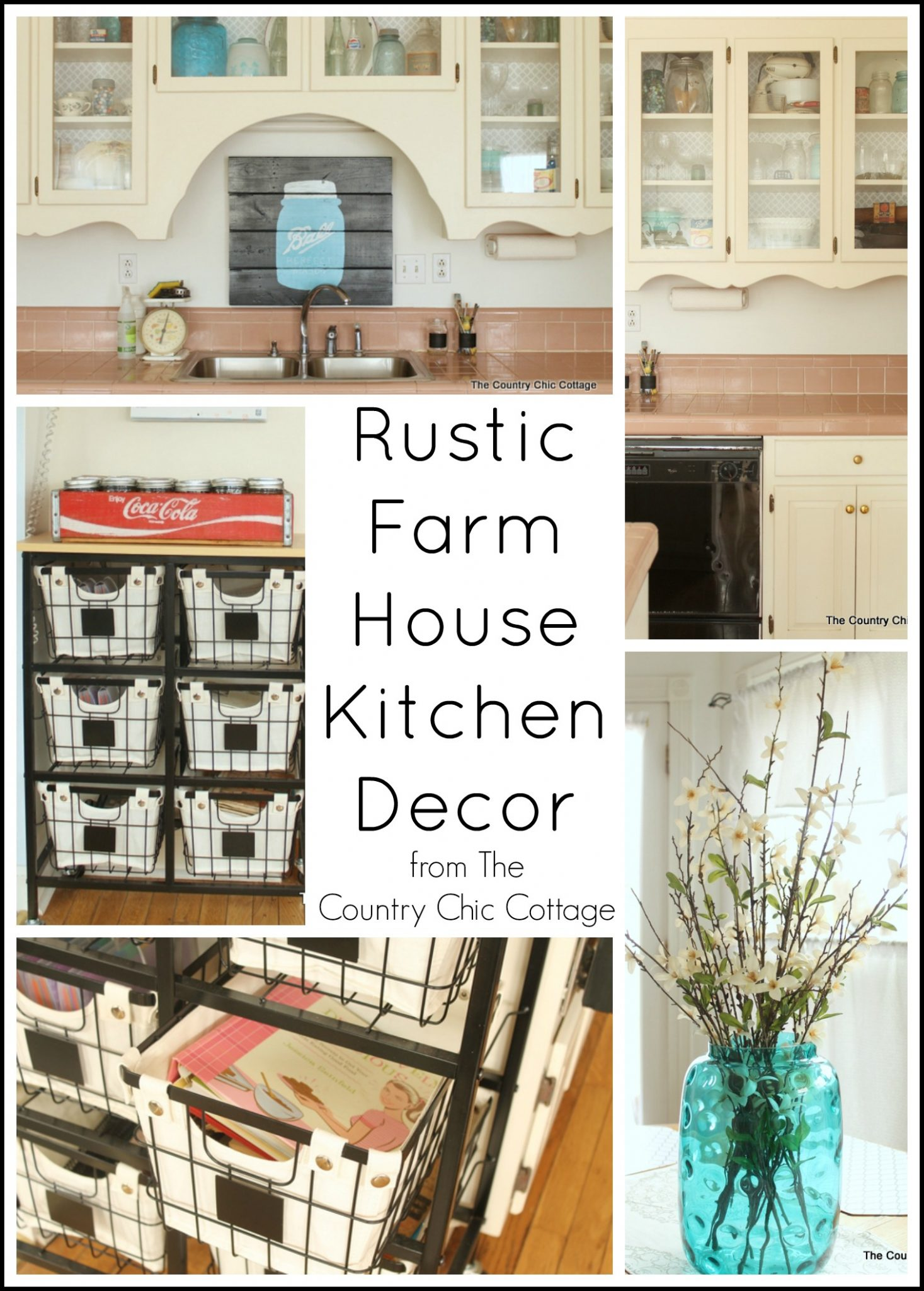 Rustic Farmhouse Kitchen Decor - The Country Chic Cottage on Rustic Farmhouse Kitchen  id=77541