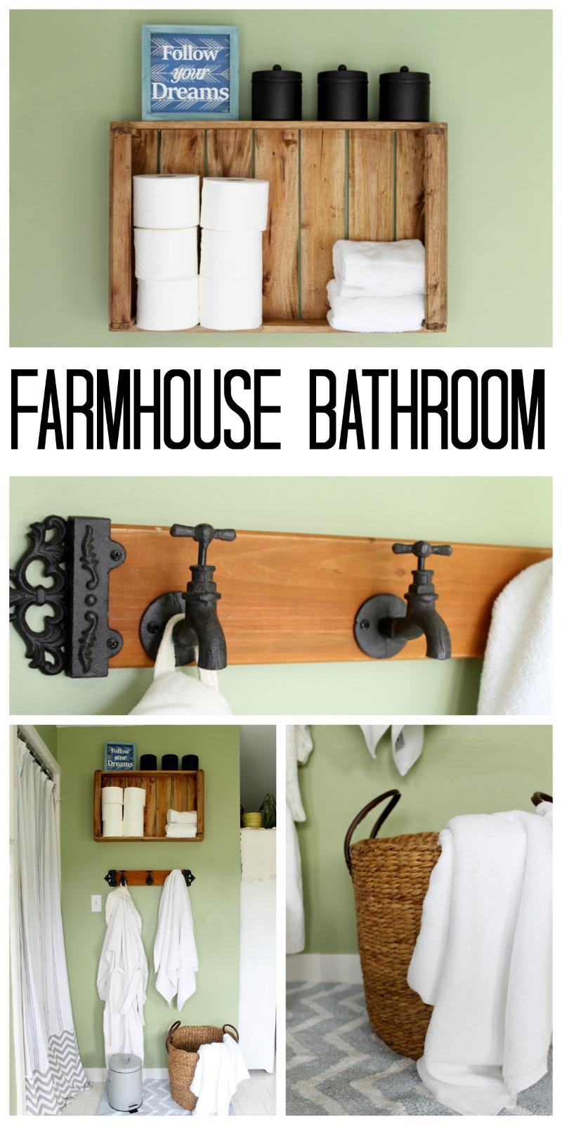Rustic Farmhouse Bathroom Ideas - The Country Chic Cottage on Rustic Farmhouse Bathroom  id=46652