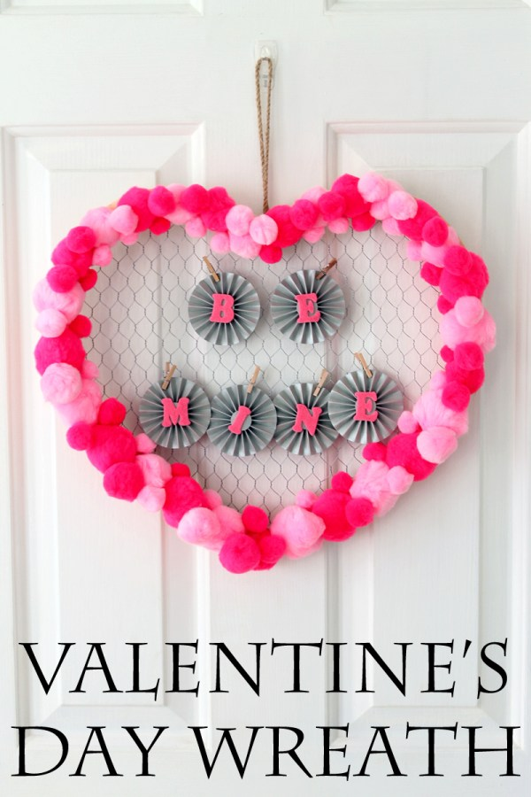 Quick Valentine's Day Wreath Idea - The Country Chic Cottage