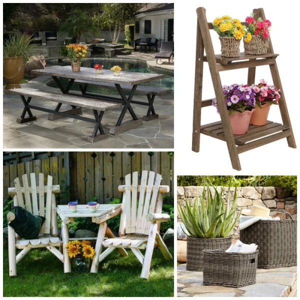 cottage style outdoor patio furniture Rustic Outdoor Furniture: Farmhouse Style Options - The