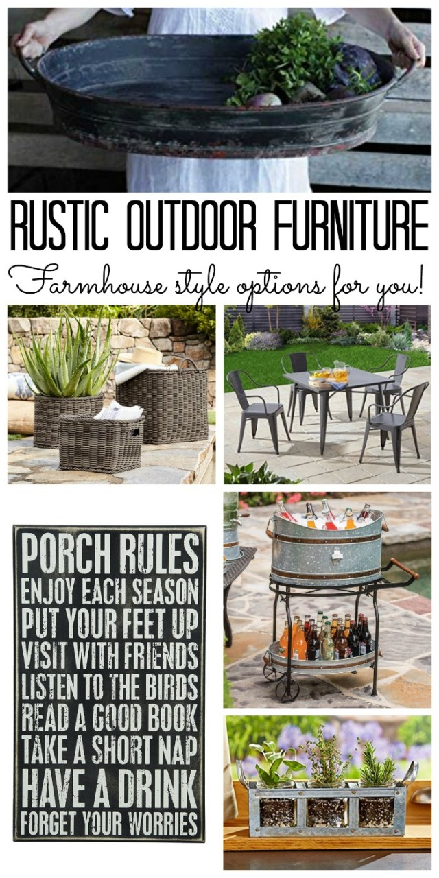 rustic outdoor furniture: farmhouse style options - the country chic