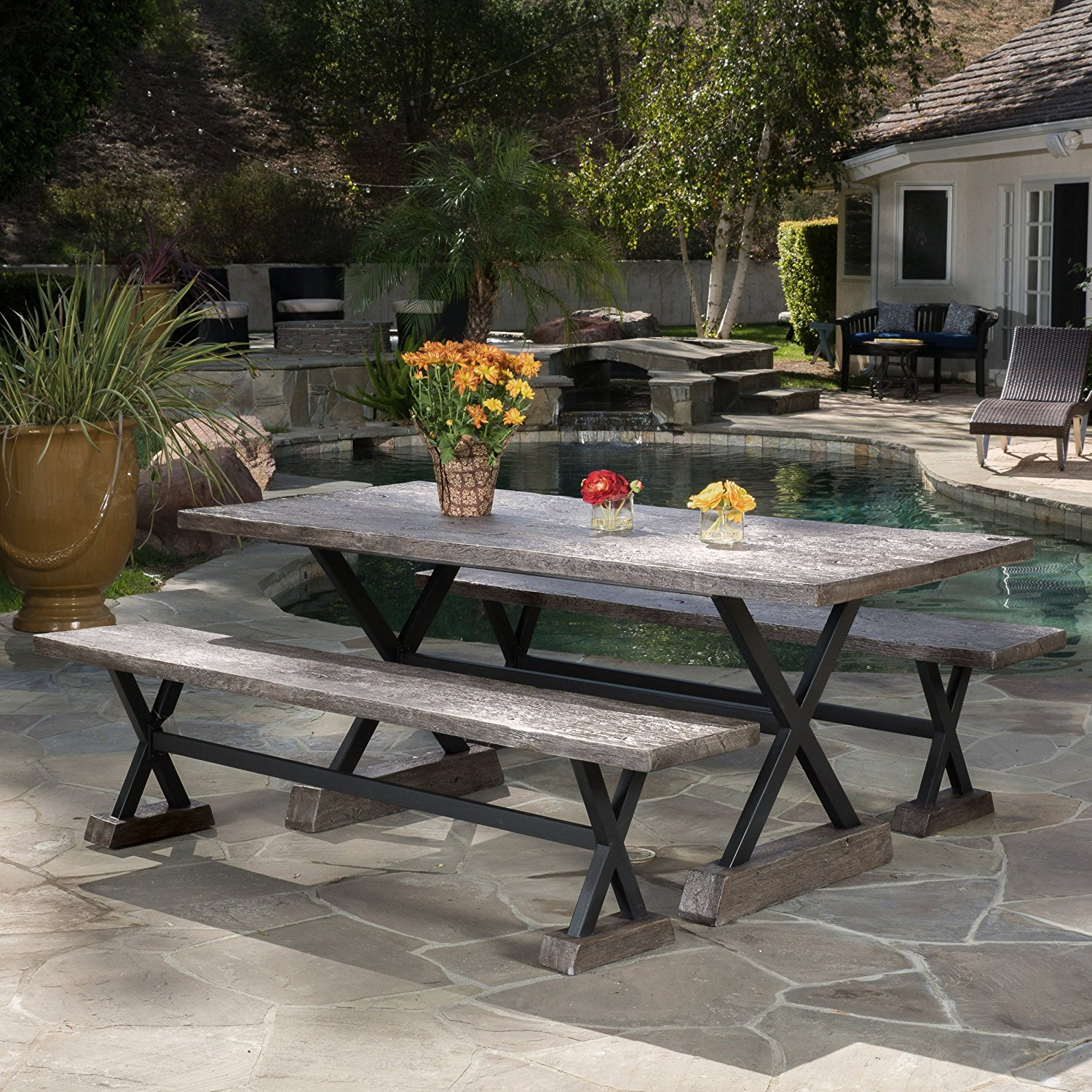 rustic outdoor furniture farmhouse style options the on country farmhouse furniture id=54389