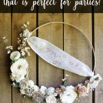 Extra Large Hoop Wreath For Parties With The Cricut Wisteria The Country Chic Cottage