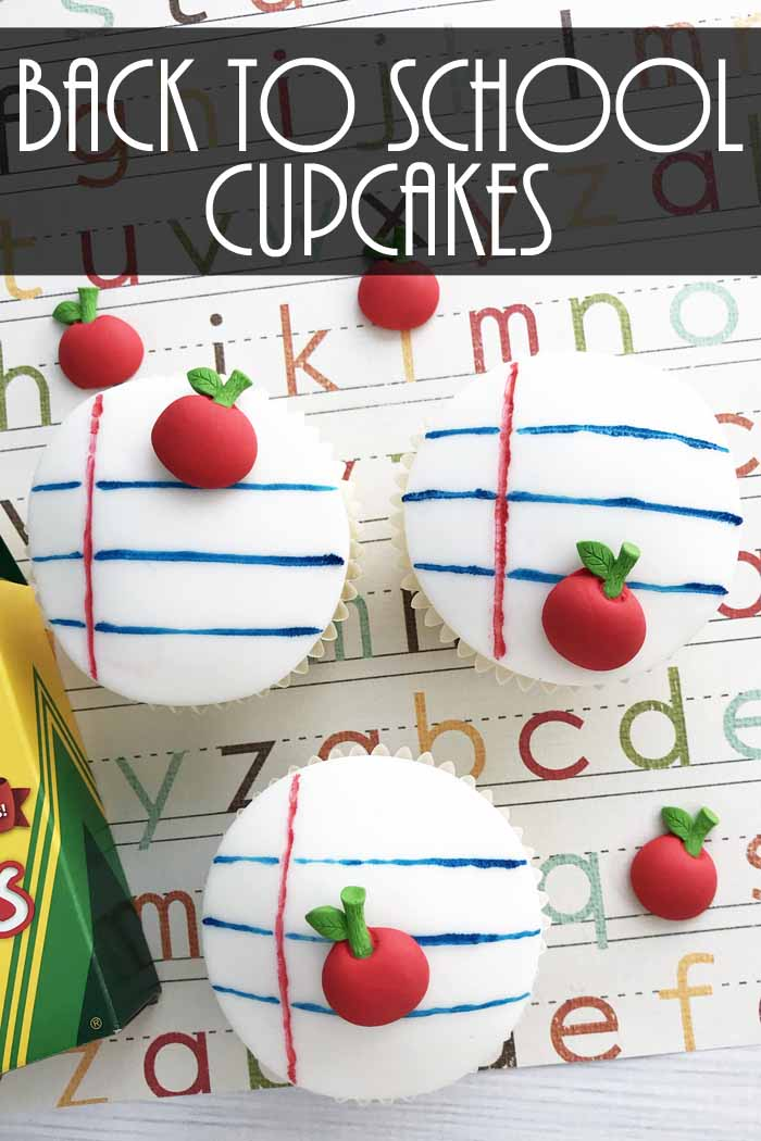 Make these back to school cupcakes for your little one! They will love eating these on the first day of school! Makes a great gift for teachers as well!