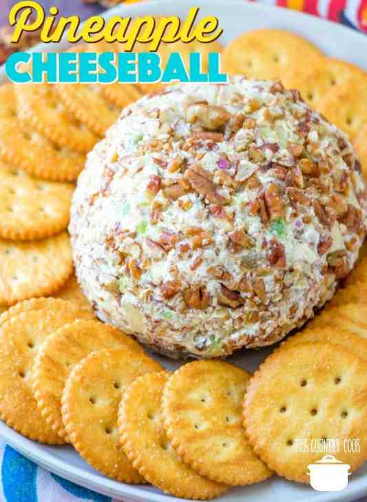 Easy Pineapple Cheeseball recipe from The Country Cook