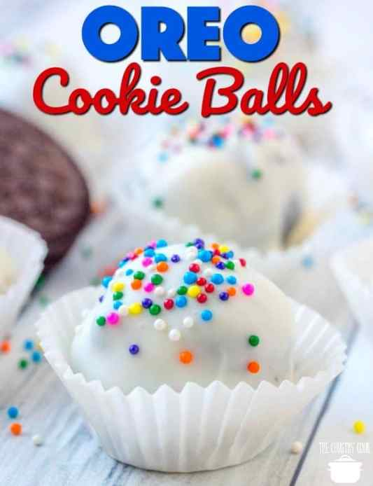 Oreo Cookie Balls recipe from The Country Cook