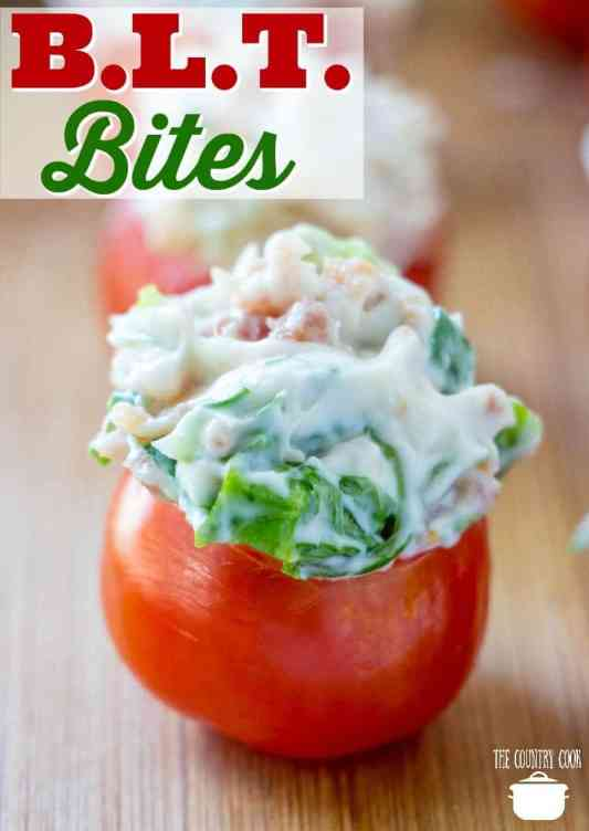 Easy BLT Bites recipe from The Country Cook