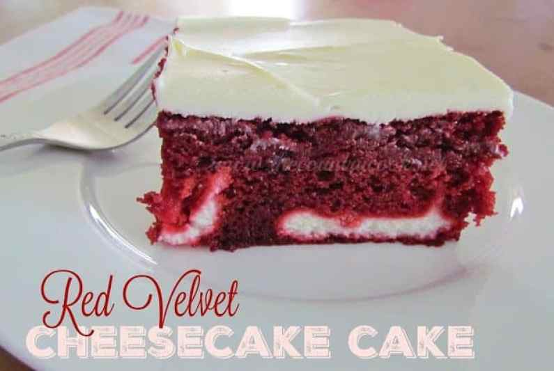 Red Velvet Cheesecake Cake recipe from The Country Cook