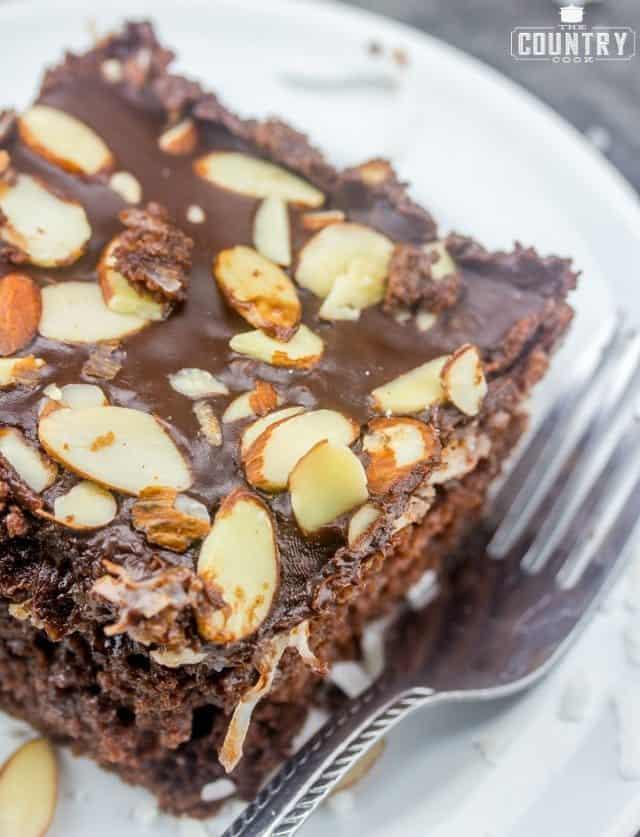 slice, Almond Joy Cake