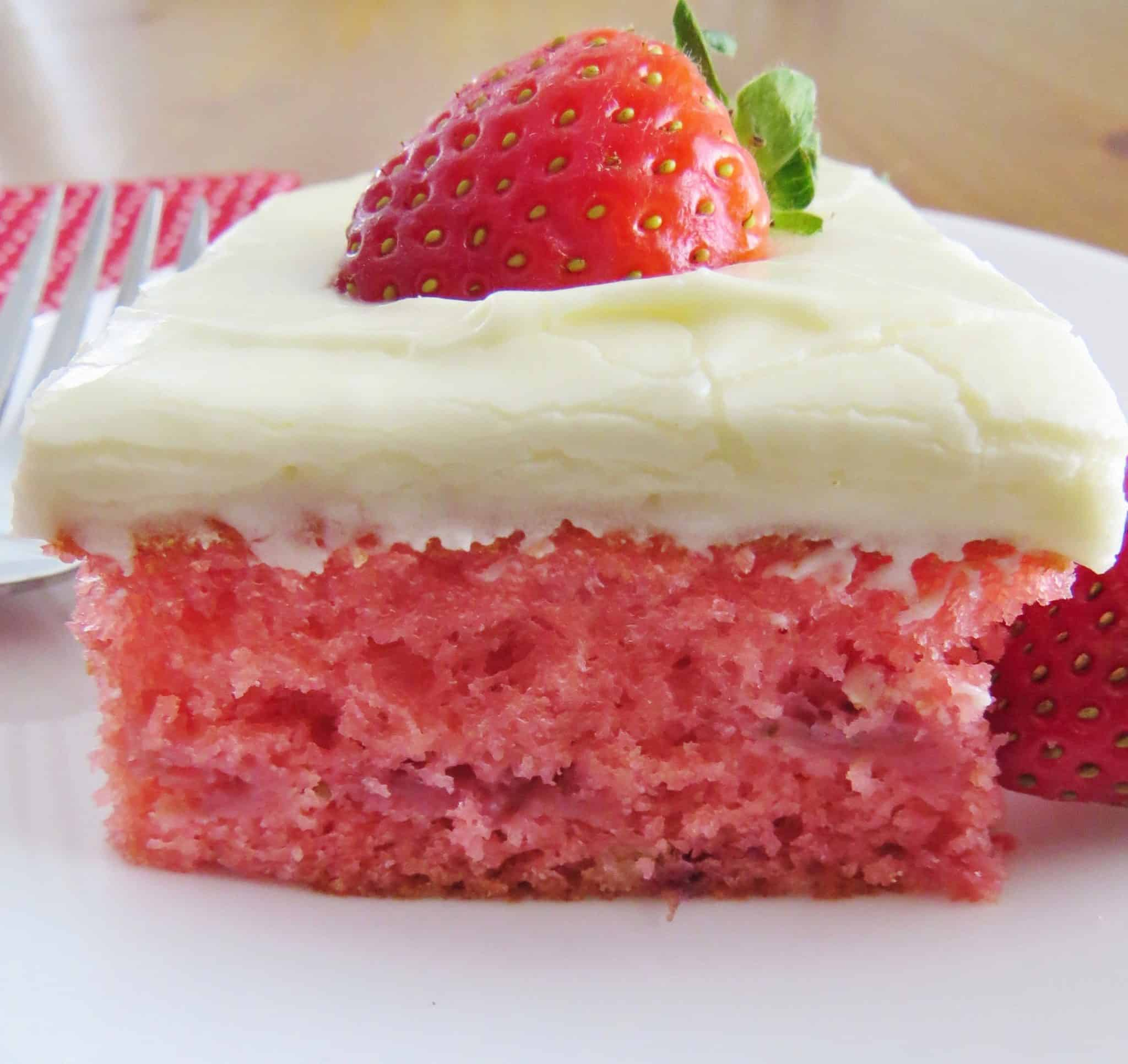 Easy Fresh Strawberry Cake Video The Country Cook