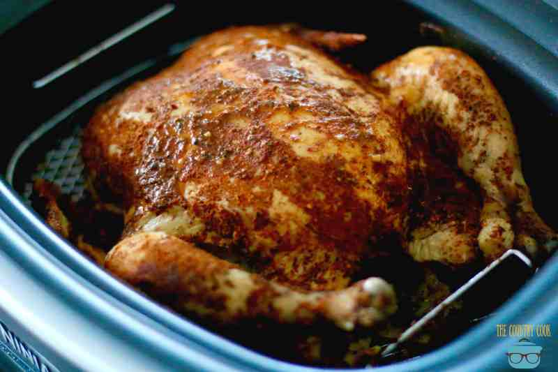 Slow Cooker Whole BBQ Chicken
