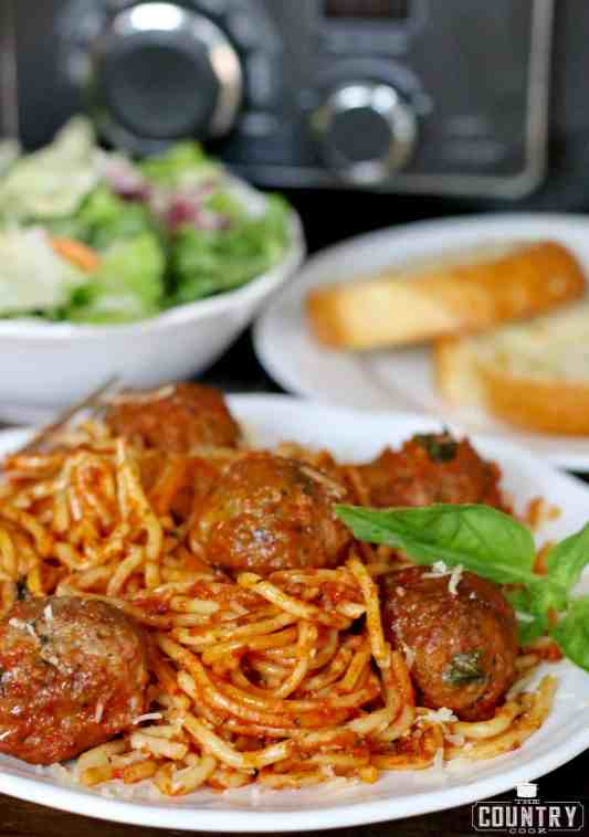 Slow Cooker Spaghetti with Meatballs