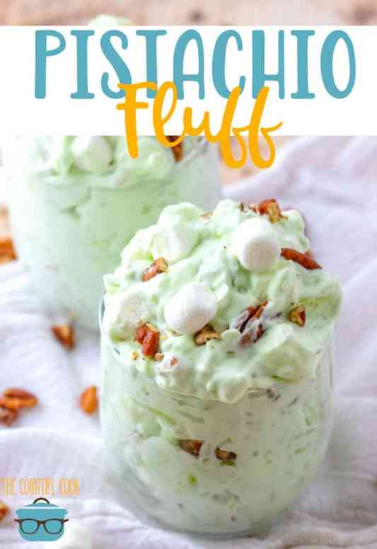 No-Bake Pistachio Fluff (a.k.a. Watergate salad) recipe from The Country Cook #dessert #StPatricksDay