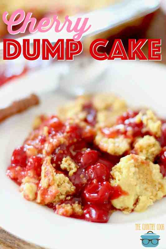 Easy Cherry Dump Cake recipe from The Country Cook