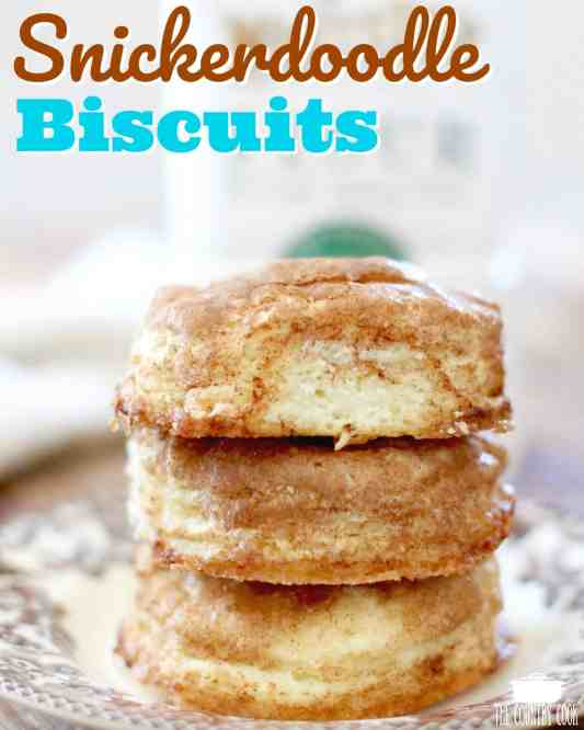 Homemade Snickerdoodle Skillet Biscuits recipe from The Country Cook