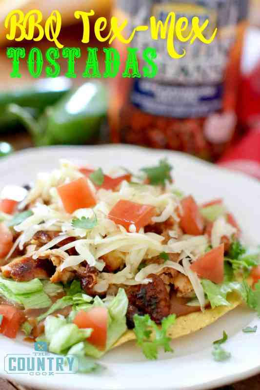 BBQ TEX MEX TOSTADAS recipe at The Country Cook