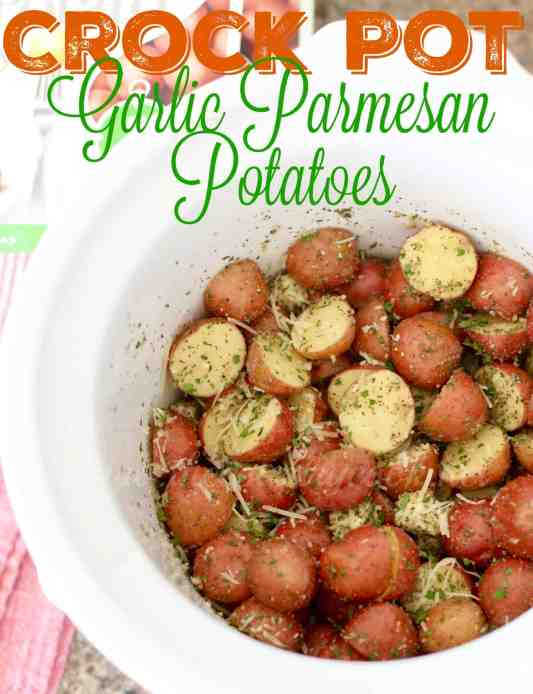 Crock Pot Garlic Parmesan Potatoes recipe from The Country Cook