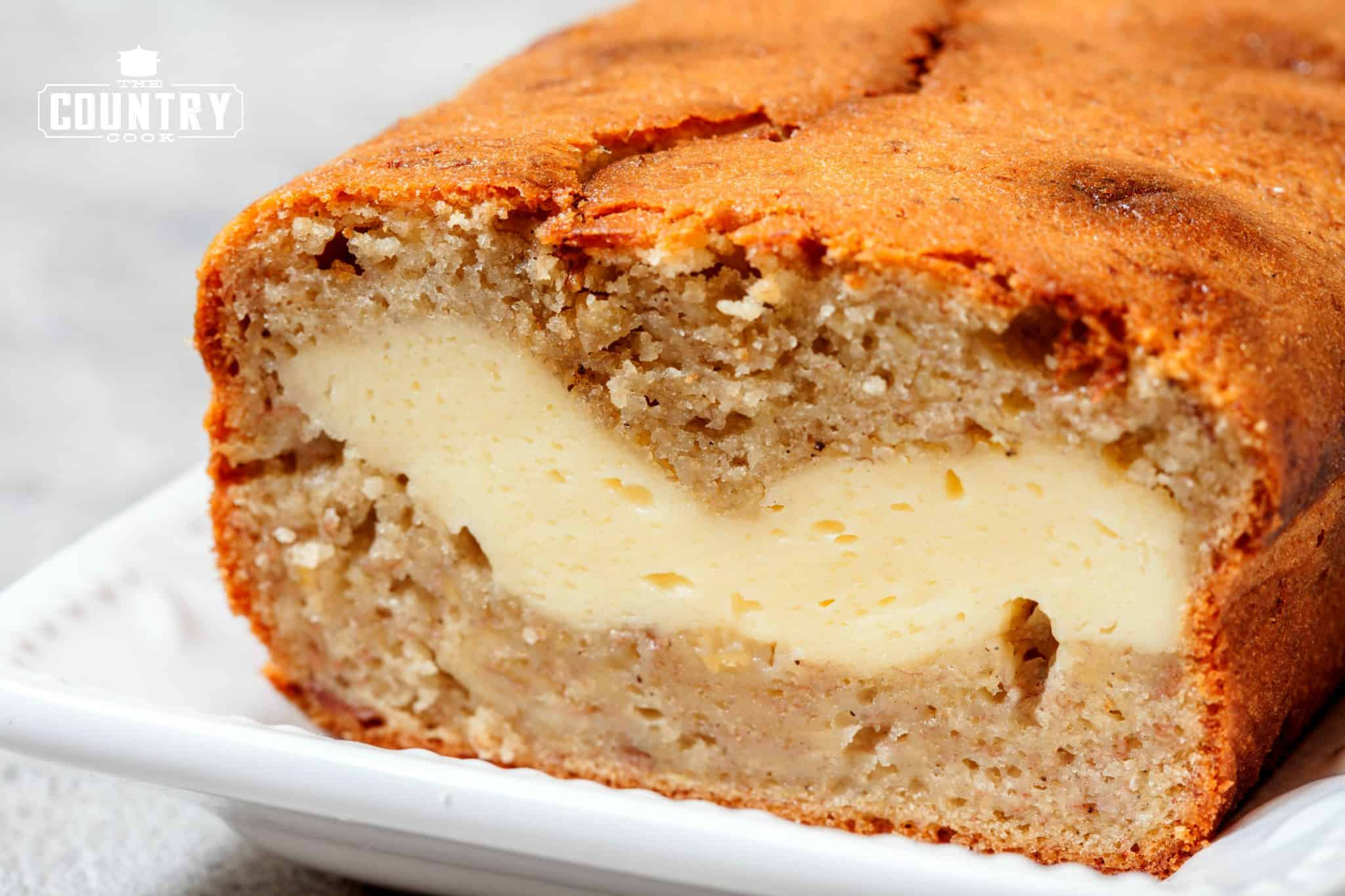 Cheesecake Stuffed Banana Bread   The Country Cook Cheesecake Stuffed Banana Bread