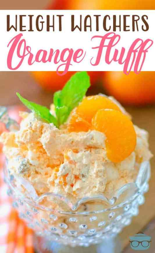 Weight Watchers Orange Fluff recipe from The Country Cook #healthy #salads