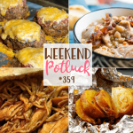 Onion Baked Potatoes in Foil - Weekend Potluck #359