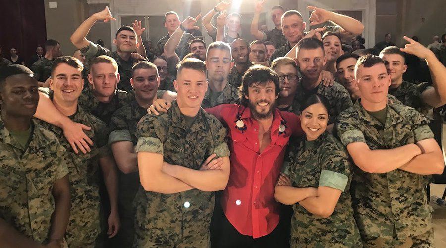 Chris Janson Performance at U S  Marine Barracks In