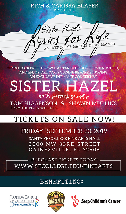 sister hazel s lyrics for life an evening of making music matter the country note sister hazel s lyrics for life an