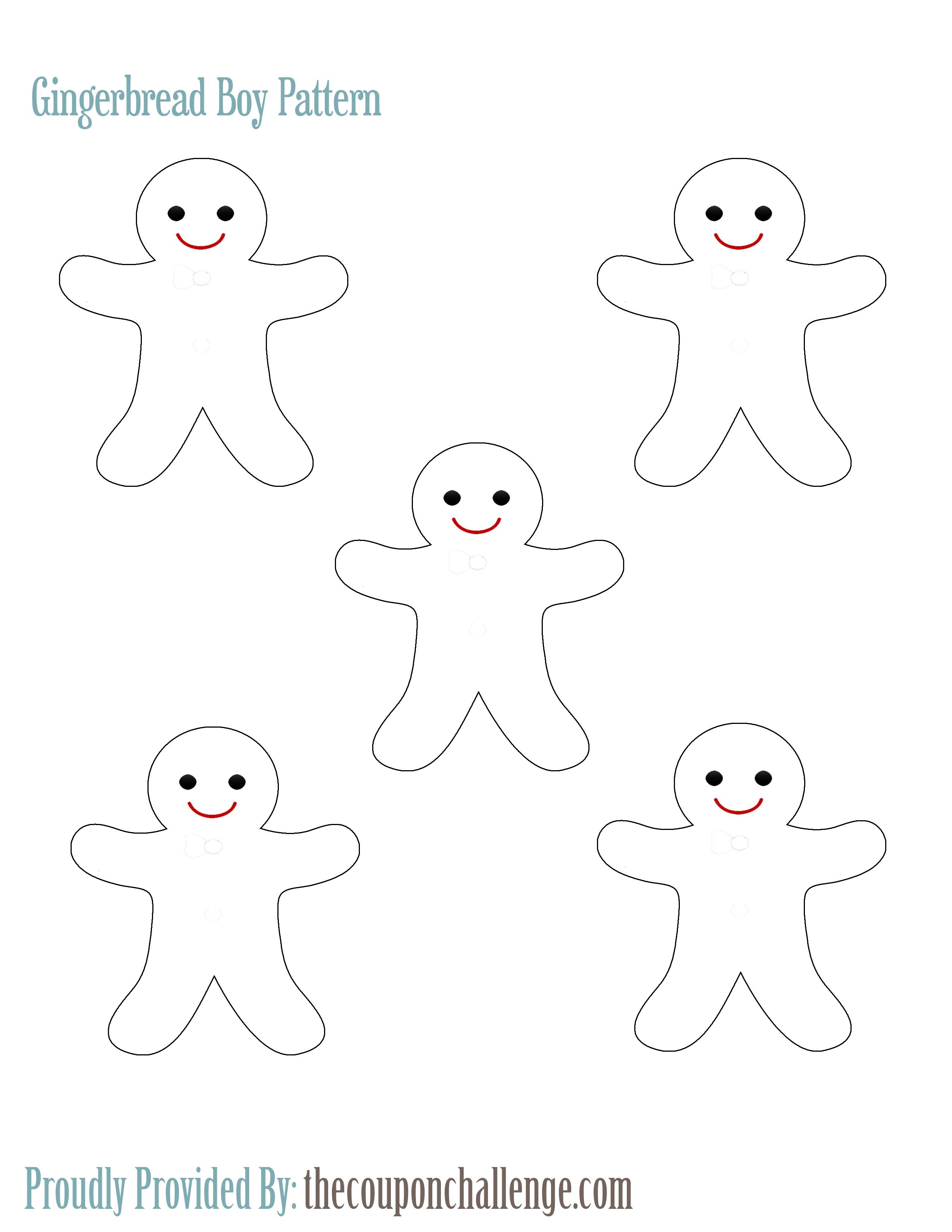 Gingerbread Boy Pattern