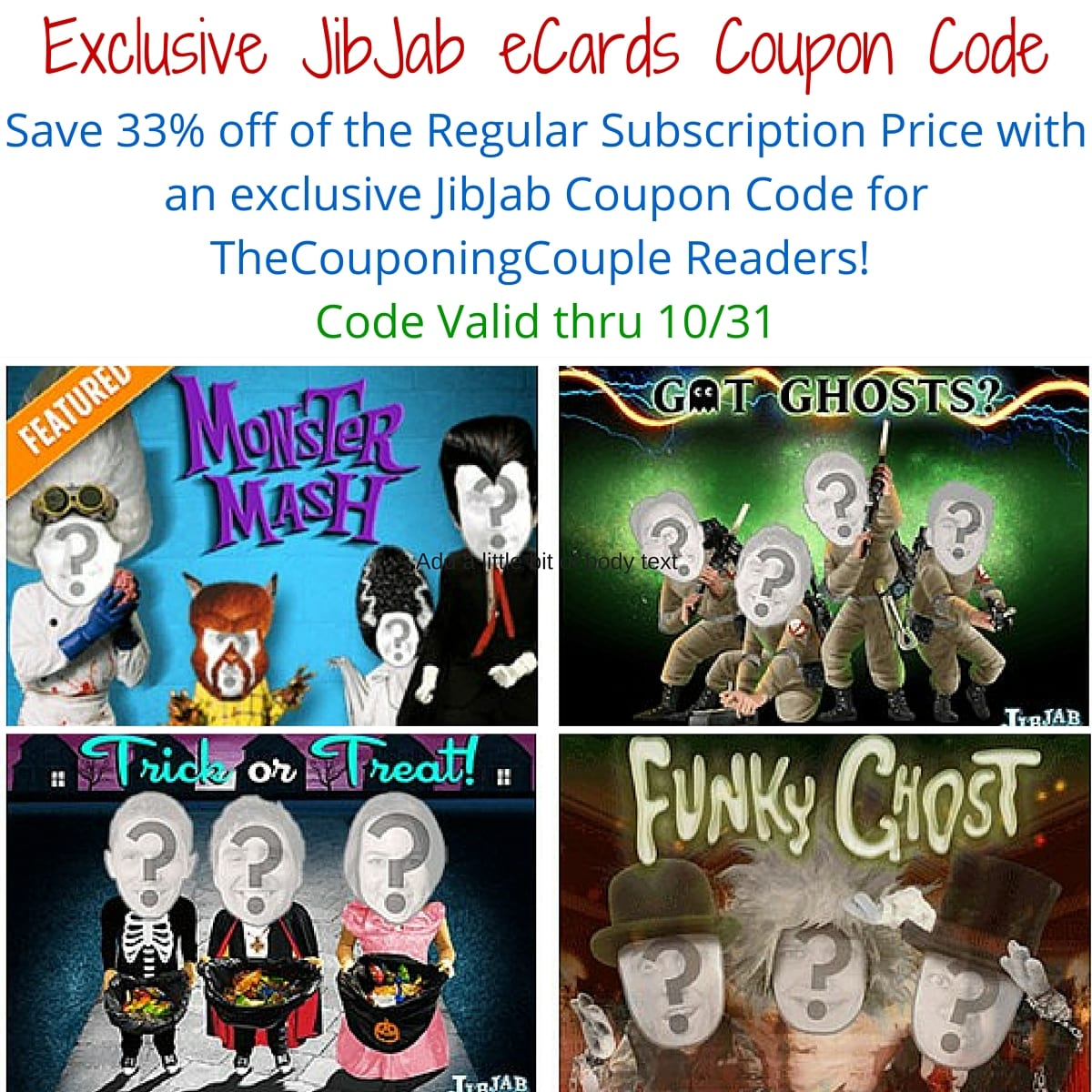 """You can find them by searching """" Exclusive JibJab eCards Coupon Code ~ Halloween JibJab Videos!"""