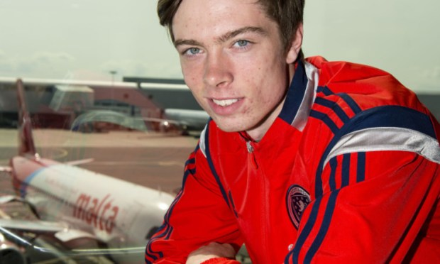 Dundee striker Craig Wighton is in Malta with the Scotland Under-17s.